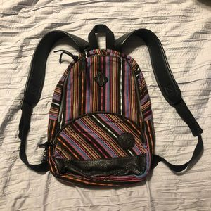 Roxy woven striped mini book bag - new